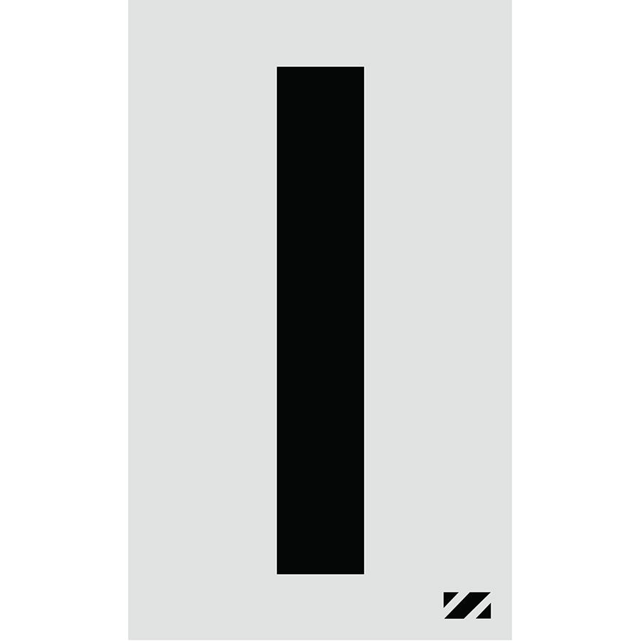 "2"" Black on Silver Engineer Grade Reflective ""I"""