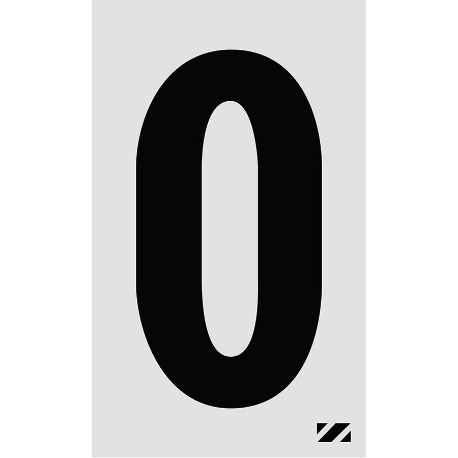 "2"" Black on Silver Engineer Grade Reflective ""O"""