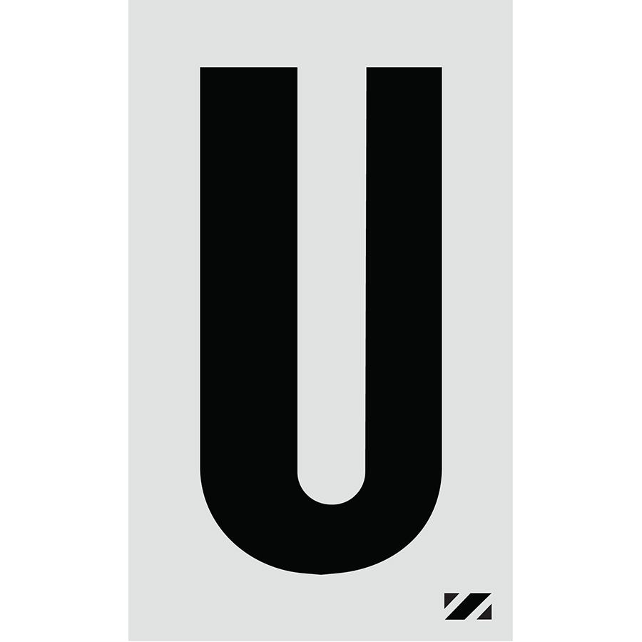 "2"" Black on Silver Engineer Grade Reflective ""U"""