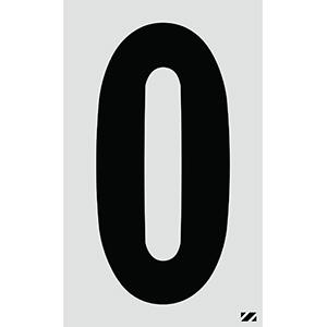 "2.5"" Black on Silver Engineer Grade Reflective ""0"""