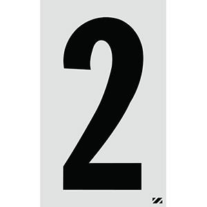 "2.5"" Black on Silver Engineer Grade Reflective ""2"""
