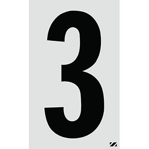 "2.5"" Black on Silver Engineer Grade Reflective ""3"""