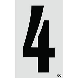 "2.5"" Black on Silver Engineer Grade Reflective ""4"""