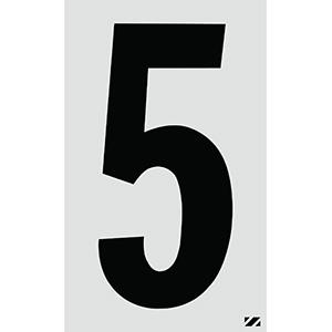 "2.5"" Black on Silver Engineer Grade Reflective ""5"""