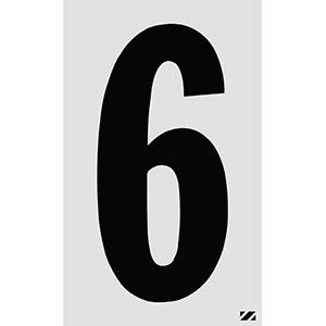 "2.5"" Black on Silver Engineer Grade Reflective ""6"""
