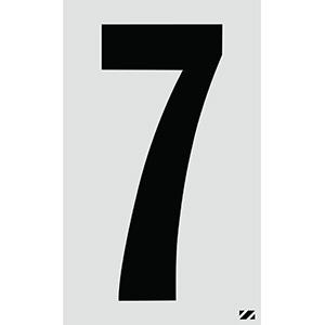 "2.5"" Black on Silver Engineer Grade Reflective ""7"""