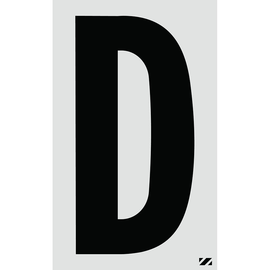 "2.5"" Black on Silver Engineer Grade Reflective ""D"""