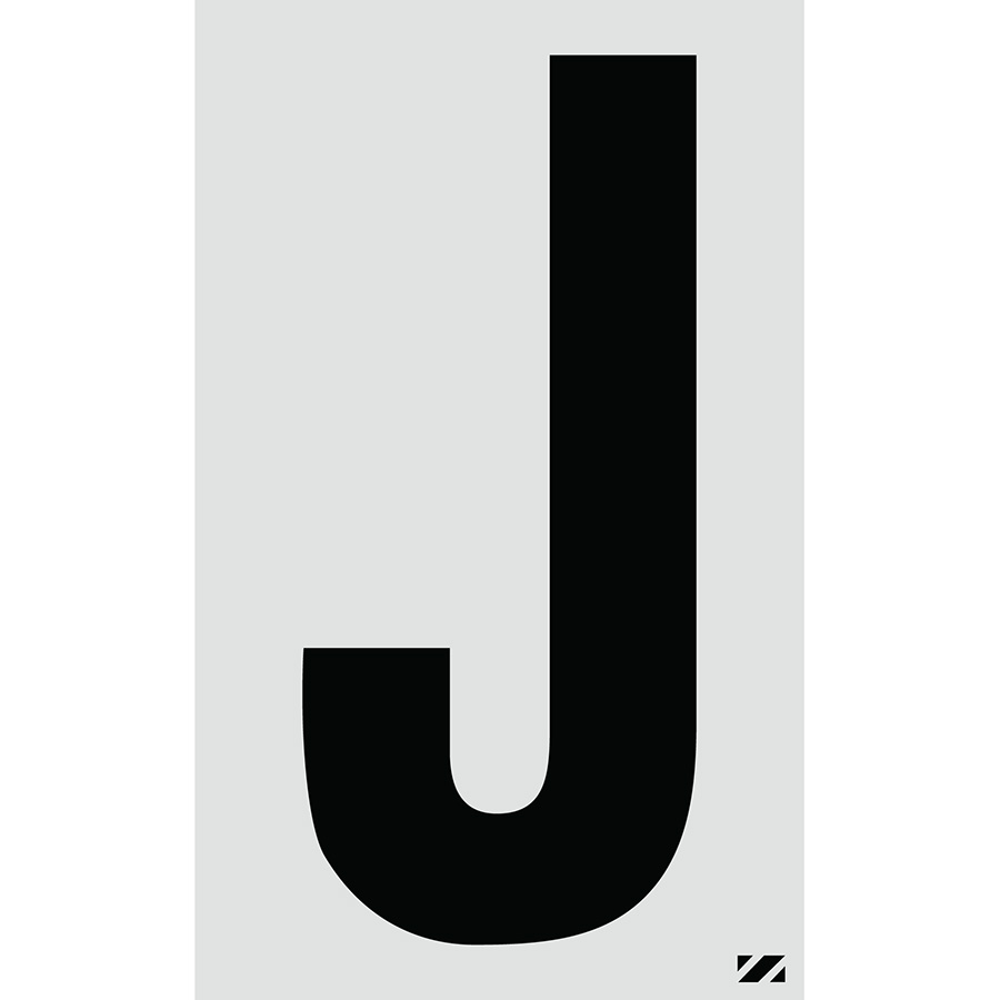 "2.5"" Black on Silver Engineer Grade Reflective ""J"""