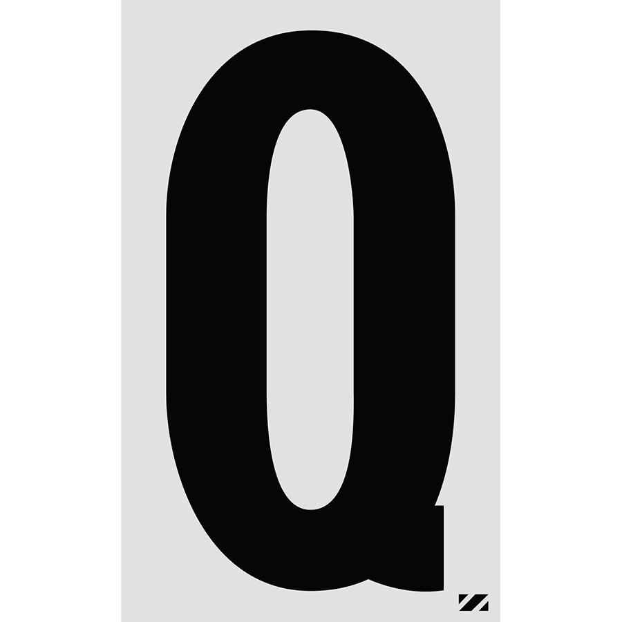 "2.5"" Black on Silver Engineer Grade Reflective ""Q"""