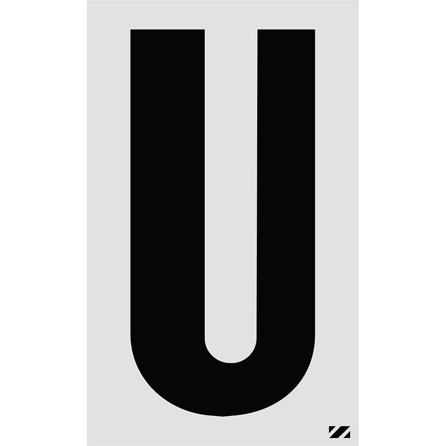 "2.5"" Black on Silver Engineer Grade Reflective ""U"""