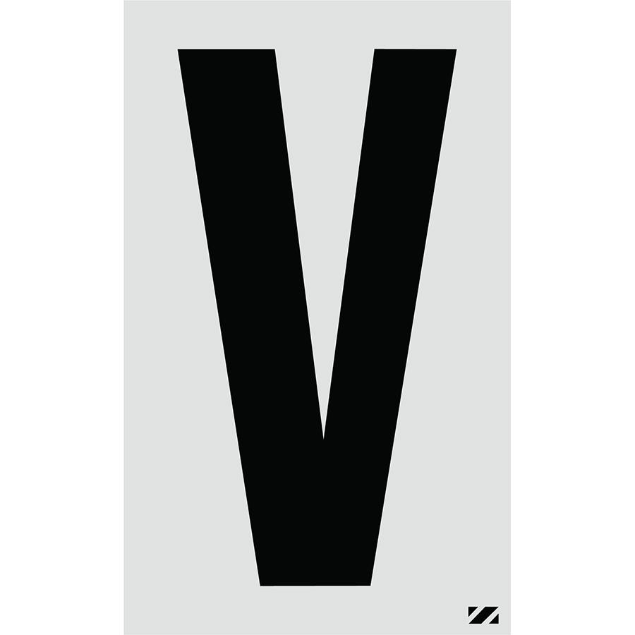 "2.5"" Black on Silver Engineer Grade Reflective ""V"""