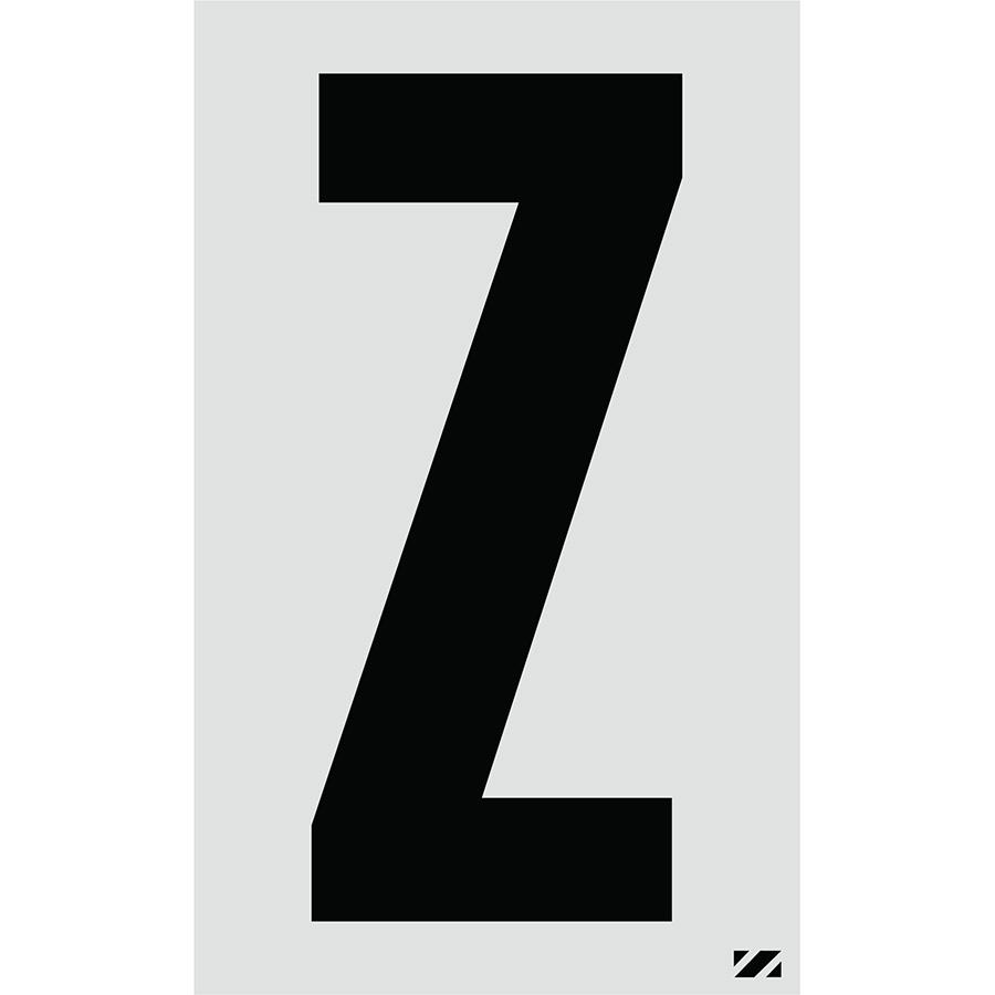 "2.5"" Black on Silver Engineer Grade Reflective ""Z"""