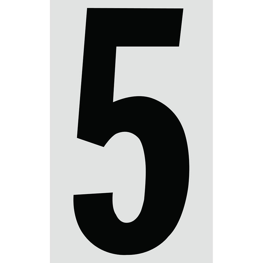 "3"" Black on Silver Engineer Grade Reflective ""5"""