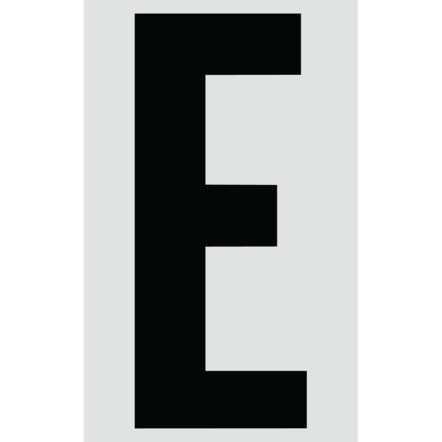 "3"" Black on Silver Engineer Grade Reflective ""E"""