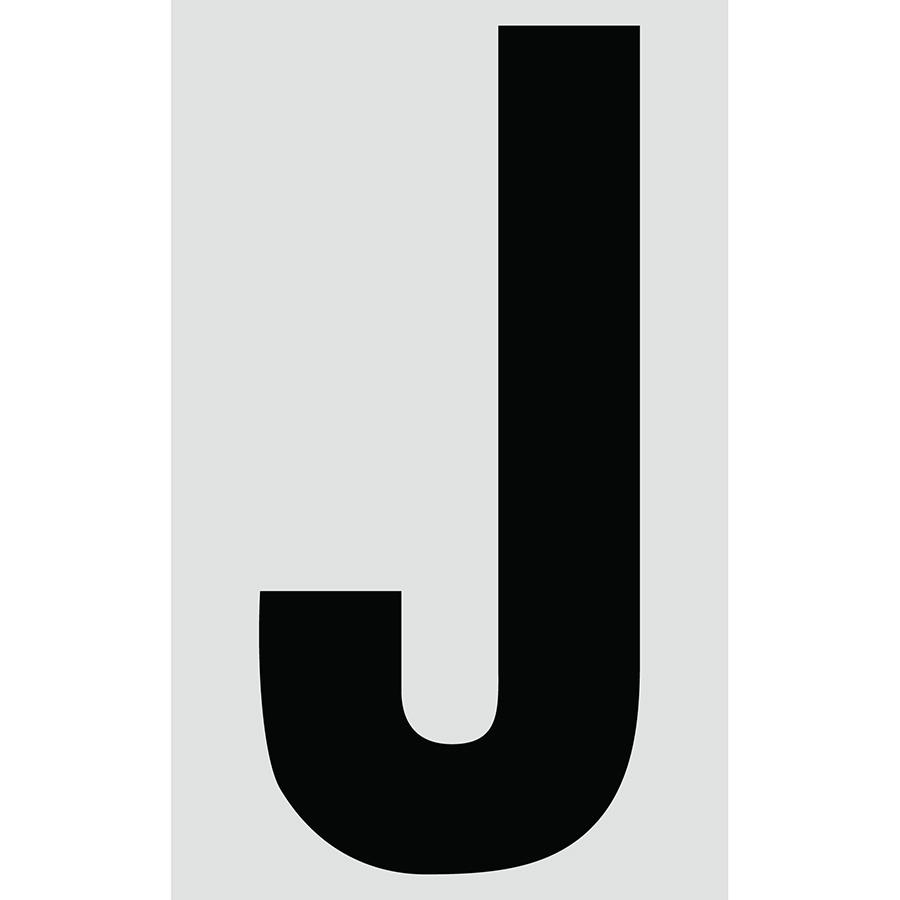 "3"" Black on Silver Engineer Grade Reflective ""J"""