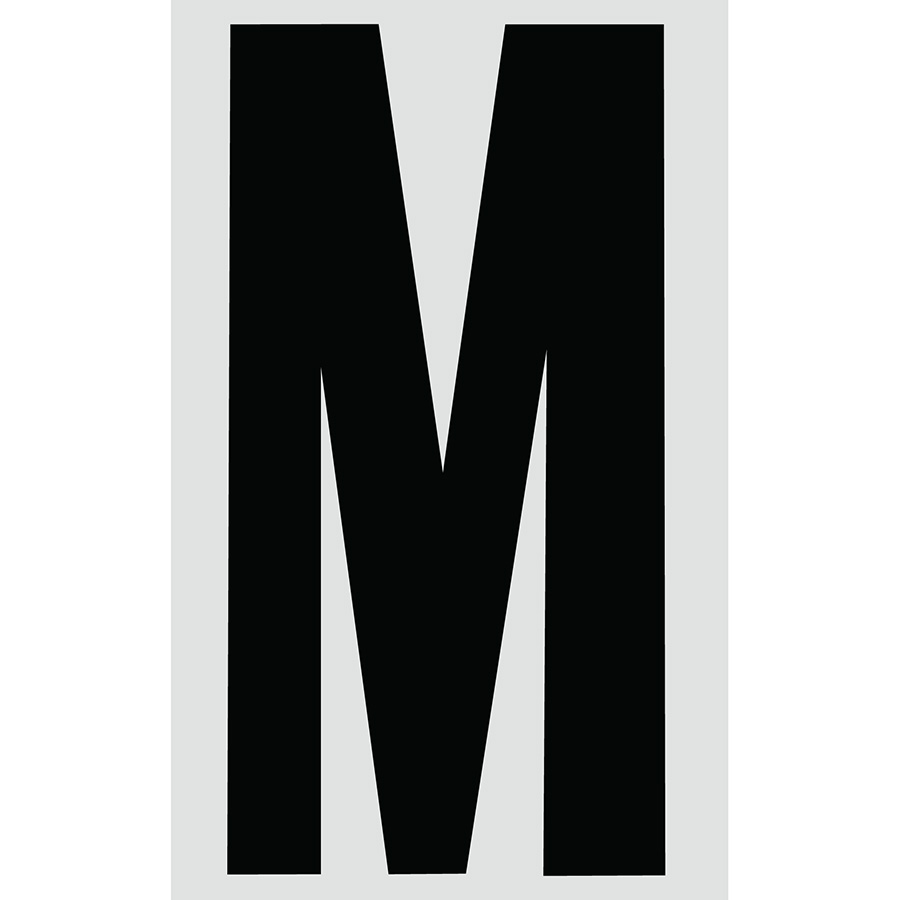 "3"" Black on Silver Engineer Grade Reflective ""M"""