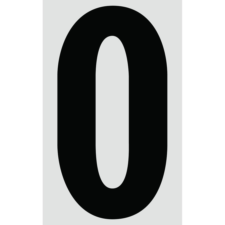 "3"" Black on Silver Engineer Grade Reflective ""O"""