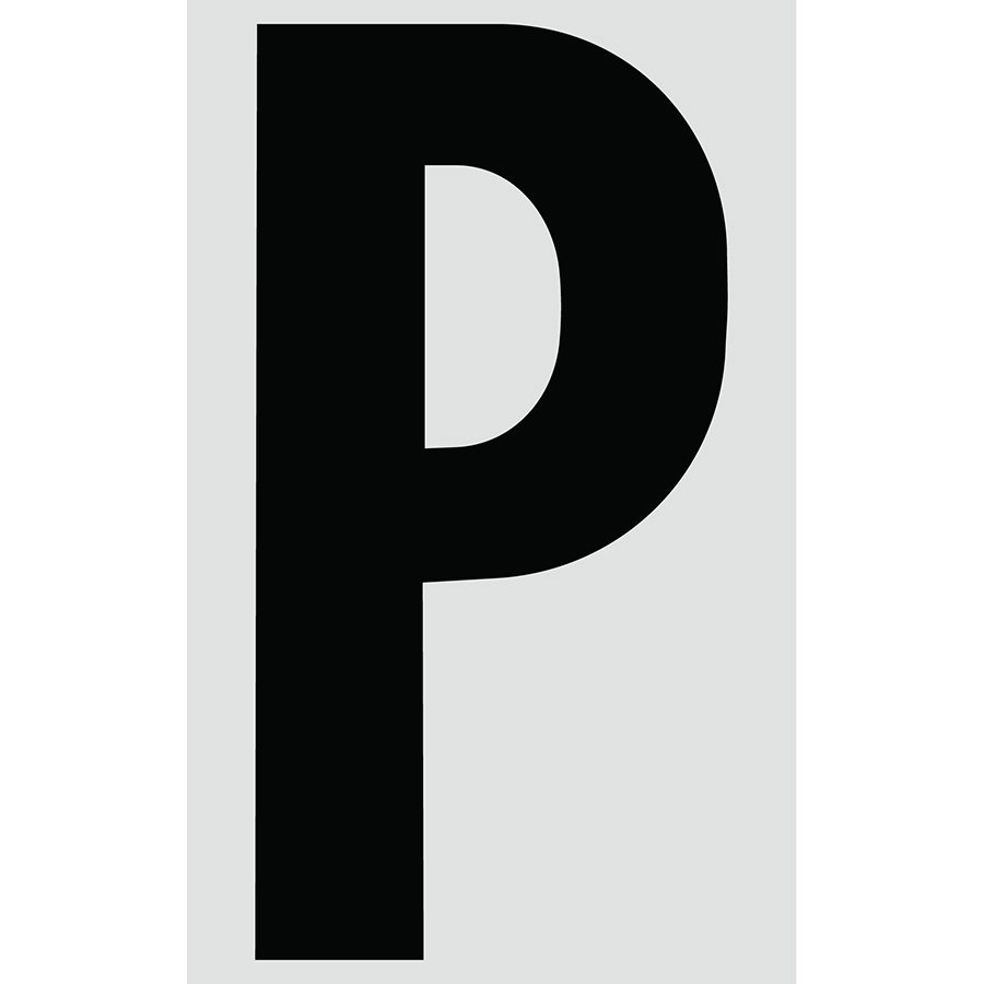"3"" Black on Silver Engineer Grade Reflective ""P"""