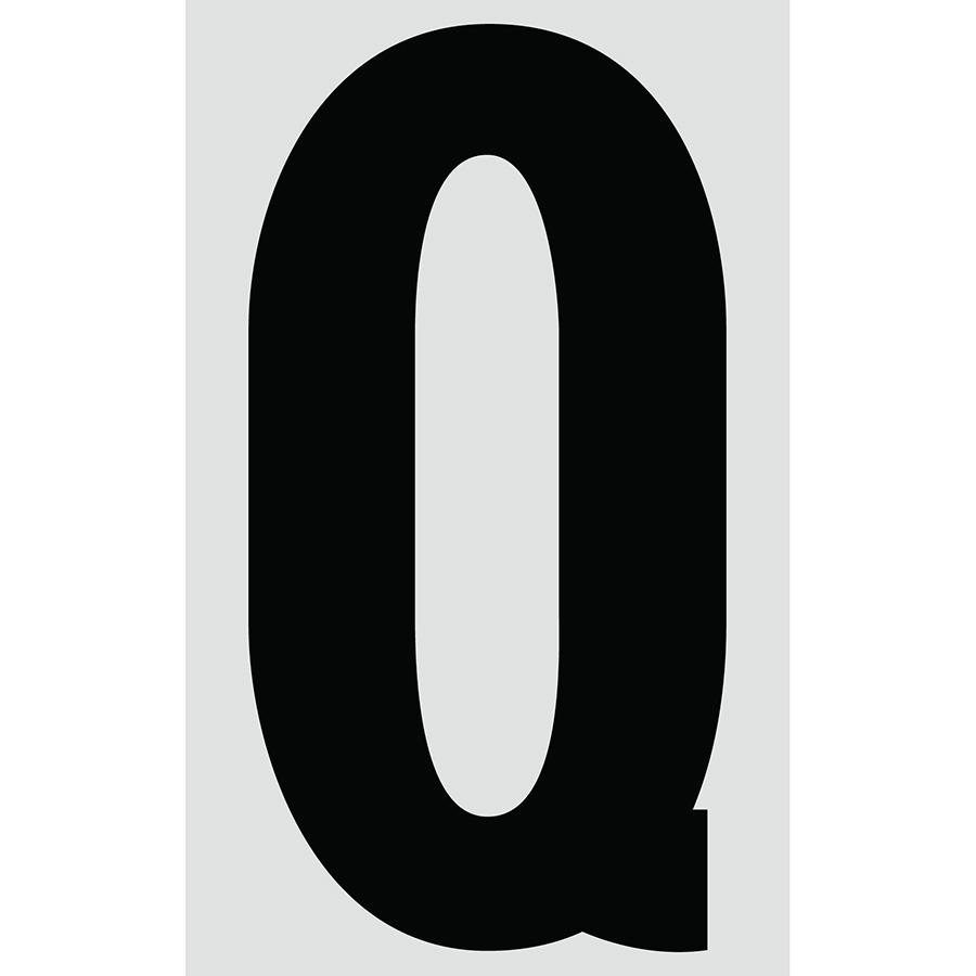 "3"" Black on Silver Engineer Grade Reflective ""Q"""
