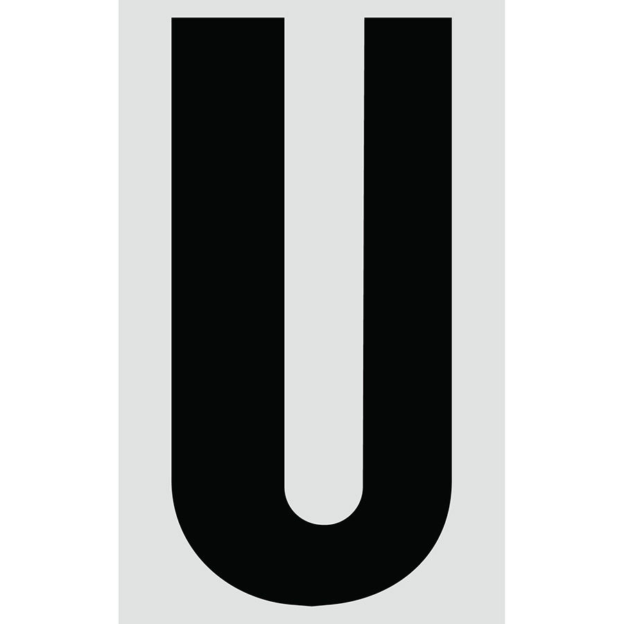 "3"" Black on Silver Engineer Grade Reflective ""U"""