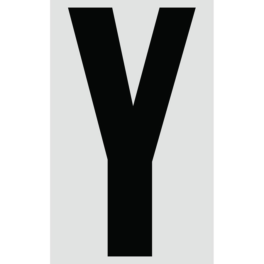 """3"""" Black on Silver Engineer Grade Reflective """"Y"""""""