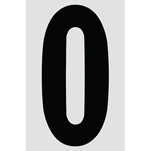 "4"" Black on Silver Engineer Grade Reflective ""0"""