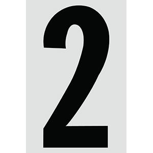 "4"" Black on Silver Engineer Grade Reflective ""2"""