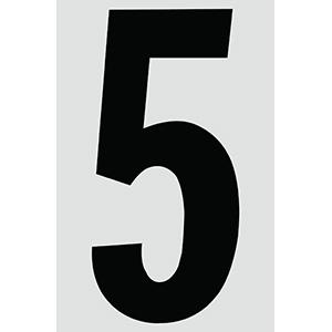 "4"" Black on Silver Engineer Grade Reflective ""5"""