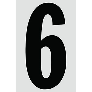 "4"" Black on Silver Engineer Grade Reflective ""6"""