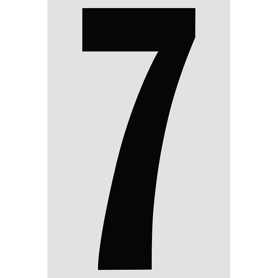 "4"" Black on Silver Engineer Grade Reflective ""7"""
