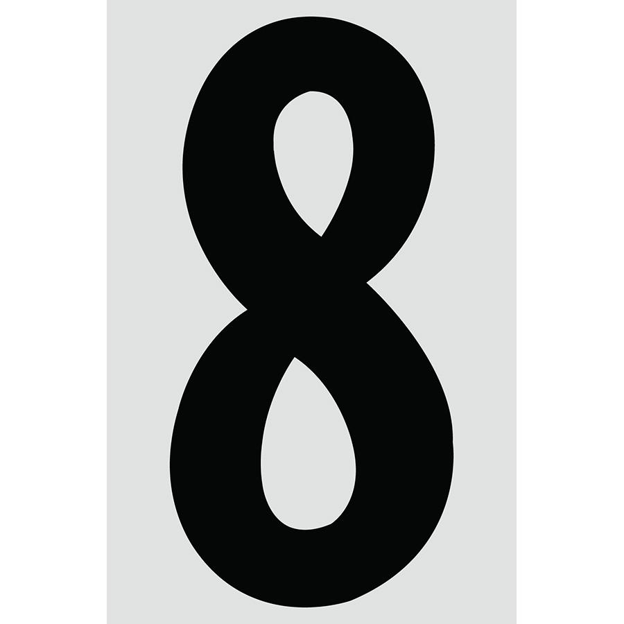 "4"" Black on Silver Engineer Grade Reflective ""8"""