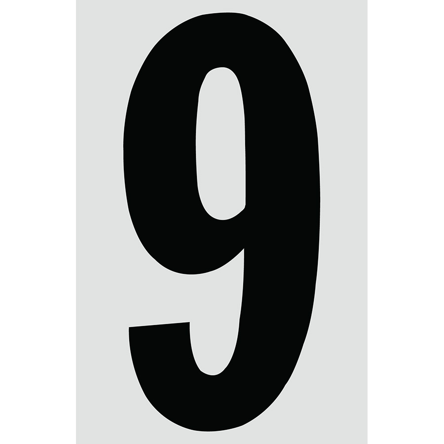 "4"" Black on Silver Engineer Grade Reflective ""9"""