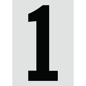 "6"" Black on Silver Engineer Grade Reflective ""1"""