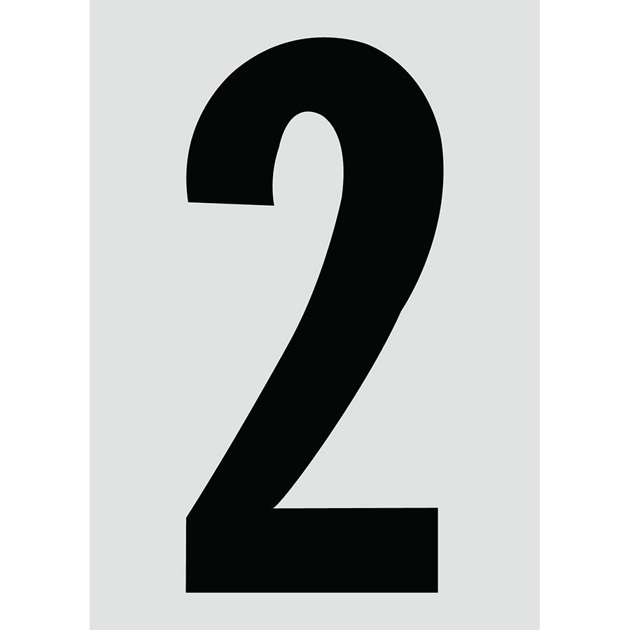 "6"" Black on Silver Engineer Grade Reflective ""2"""