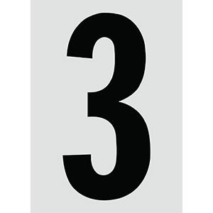 "6"" Black on Silver Engineer Grade Reflective ""3"""