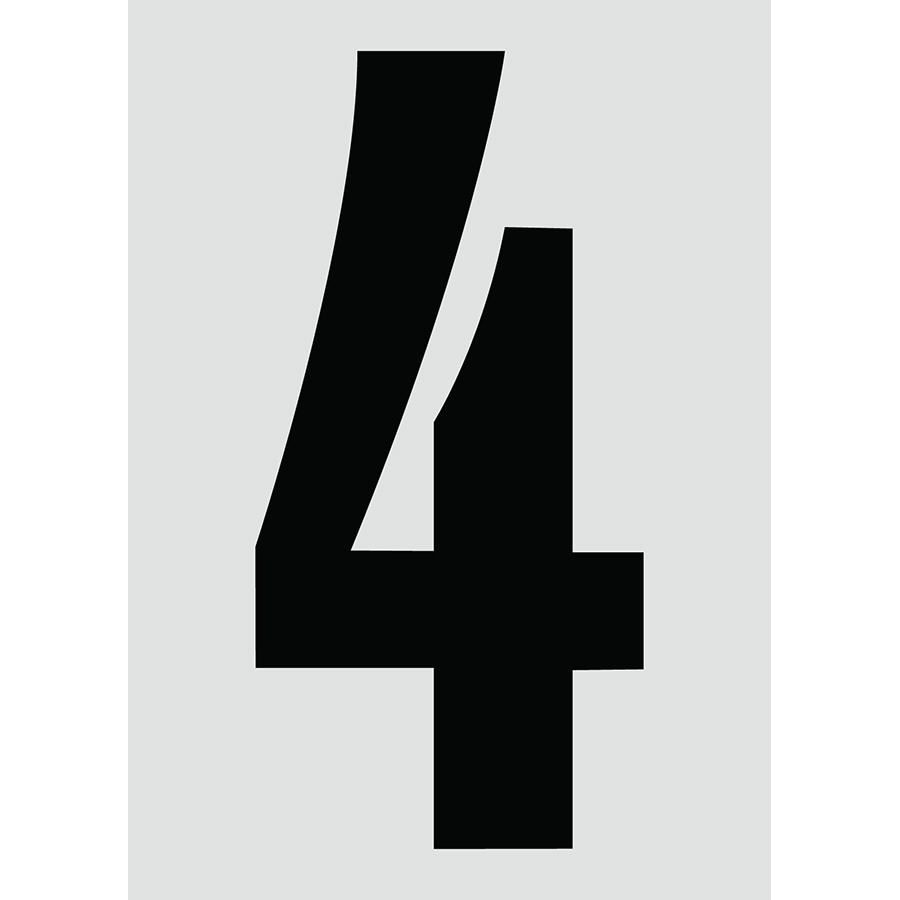 "6"" Black on Silver Engineer Grade Reflective ""4"""