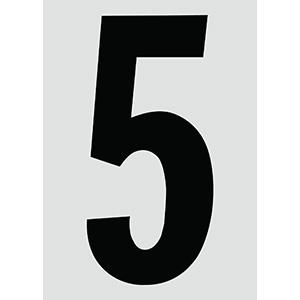 "6"" Black on Silver Engineer Grade Reflective ""5"""