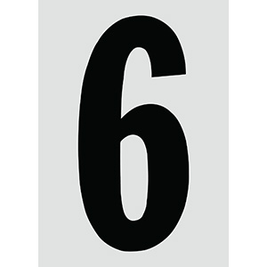 "6"" Black on Silver Engineer Grade Reflective ""6"""