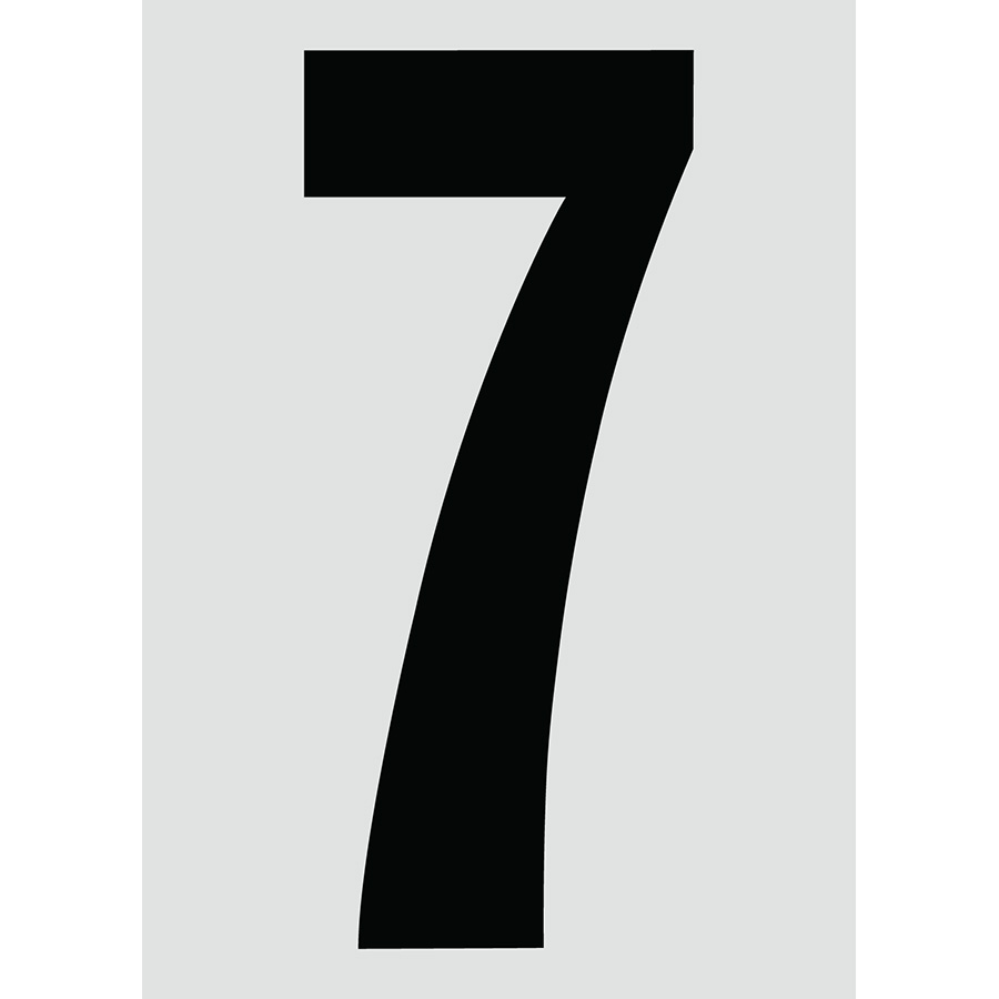 "6"" Black on Silver Engineer Grade Reflective ""7"""