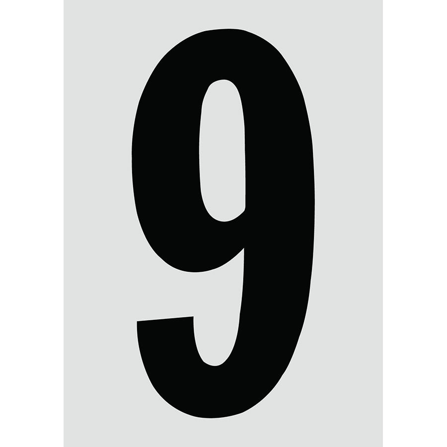 "6"" Black on Silver Engineer Grade Reflective ""9"""