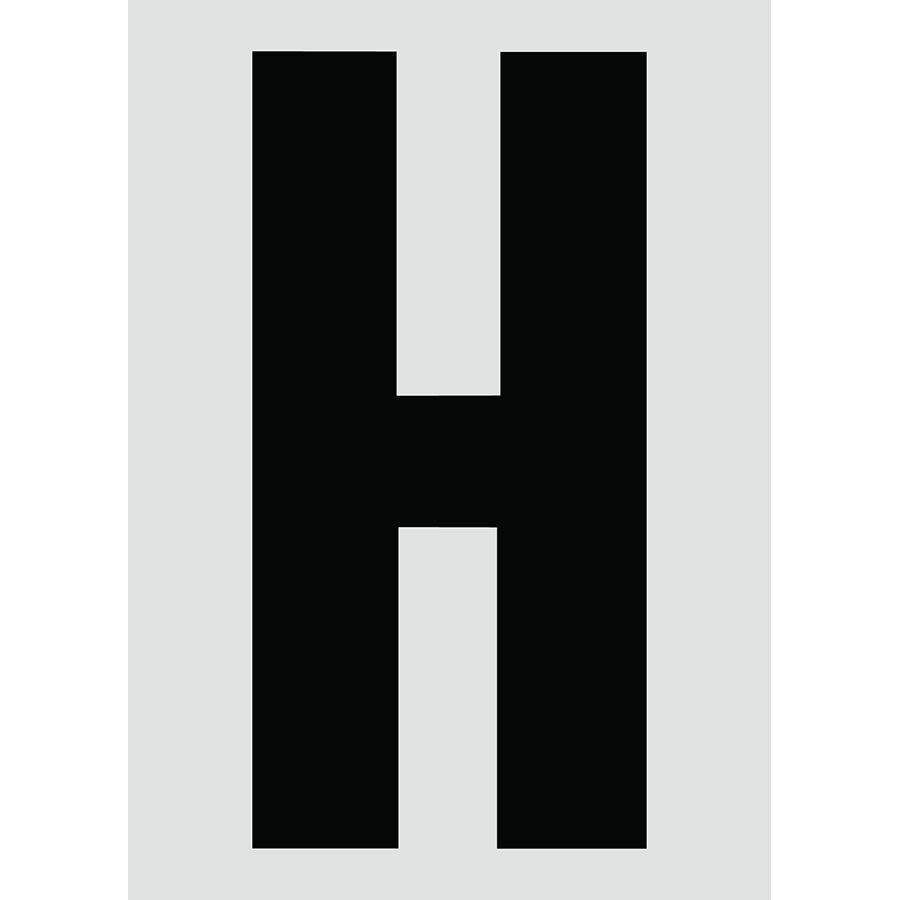 "6"" Black on Silver Engineer Grade Reflective ""H"""