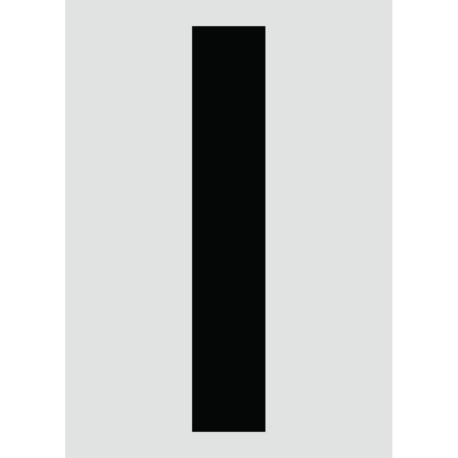 "6"" Black on Silver Engineer Grade Reflective ""I"""
