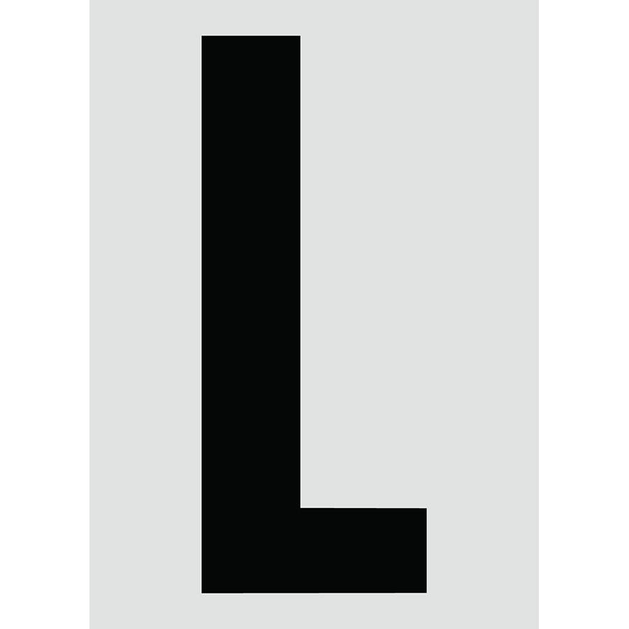"6"" Black on Silver Engineer Grade Reflective ""L"""