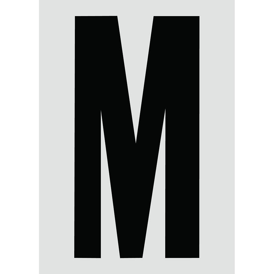 "6"" Black on Silver Engineer Grade Reflective ""M"""