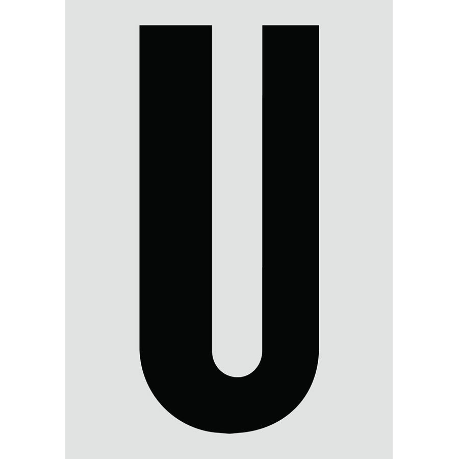 "6"" Black on Silver Engineer Grade Reflective ""U"""
