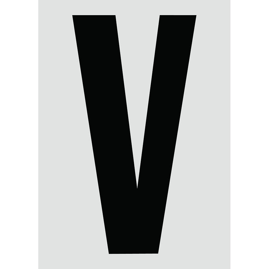 "6"" Black on Silver Engineer Grade Reflective ""V"""