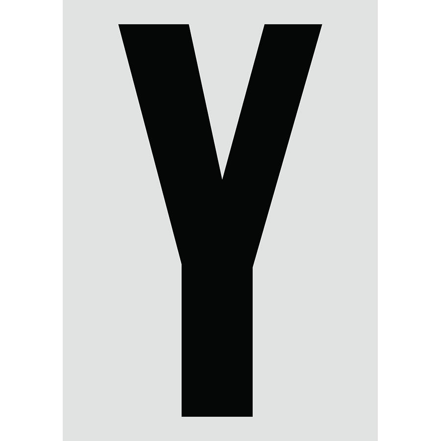 """6"""" Black on Silver Engineer Grade Reflective """"Y"""""""