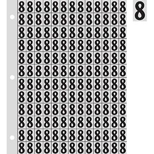 "0.78"" Black on Silver Engineer Grade Reflective ""8"""