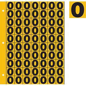 "1"" Black on Yellow Engineer Grade Reflective 0-9"