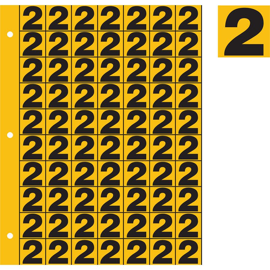 "1"" Black on Yellow Engineer Grade Reflective ""2"""